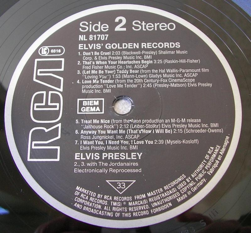 ELVIS' GOLDEN RECORDS 12993163ch