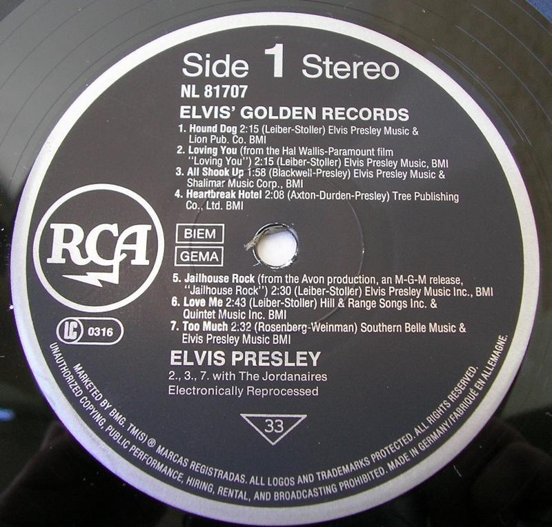 ELVIS' GOLDEN RECORDS 12993243zr