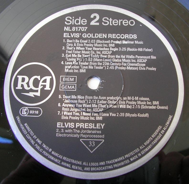 ELVIS' GOLDEN RECORDS 12993244in