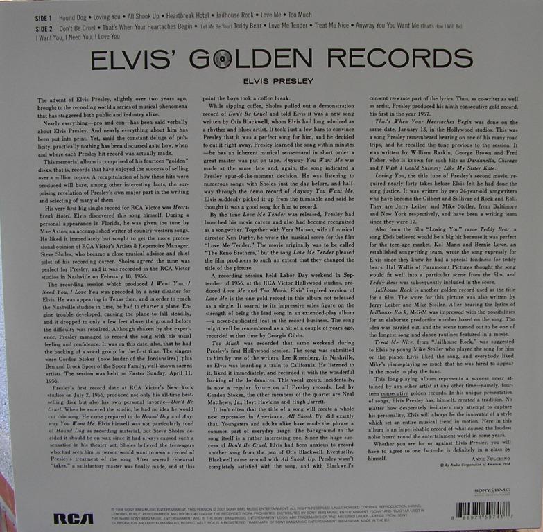 ELVIS' GOLDEN RECORDS 12993307fi