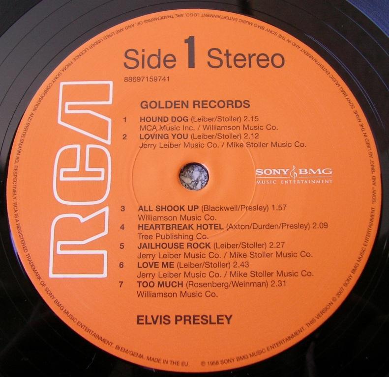 ELVIS' GOLDEN RECORDS 12993308cb