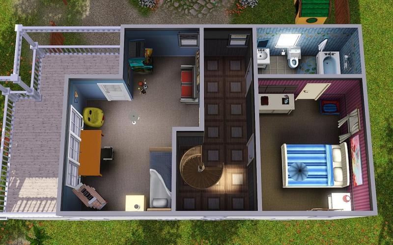 Grundriss villa sims 2  Meine Nachbarschaften von Sims1 und Sims2 für Sims3 - Sim Forum