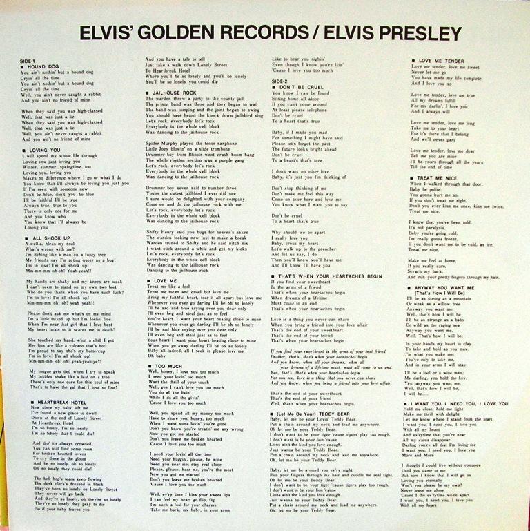 ELVIS`GOLDEN RECORDS 13108759en