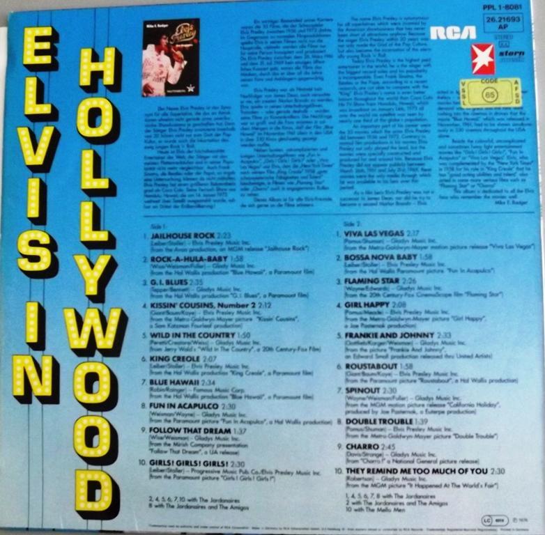 ELVIS IN HOLLYWOOD 13412924mq