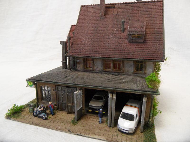 modellbauwerkstatt potsdam veredeltes klein diorama spur n werkstatt ebay. Black Bedroom Furniture Sets. Home Design Ideas