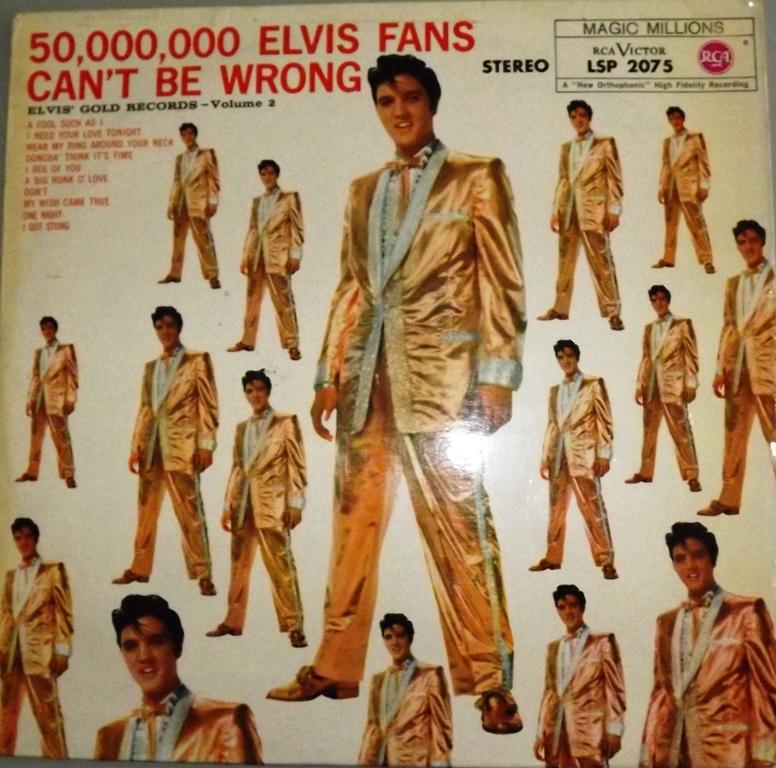 ELVIS' GOLD RECORDS VOL. 2 - 50.000.000 ELVIS FANS CAN´T BE WRONG 13564602li