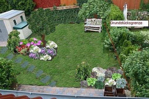 Leichtes gef lle und quadratischer grundriss wohin die for Gartengestaltung quadratischer garten