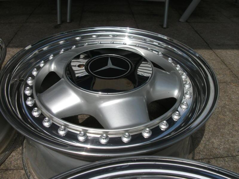 Original Mercedes oz Racing Alloy Wheels 5x112 7x15 W107 W123 W124 W202 Silver