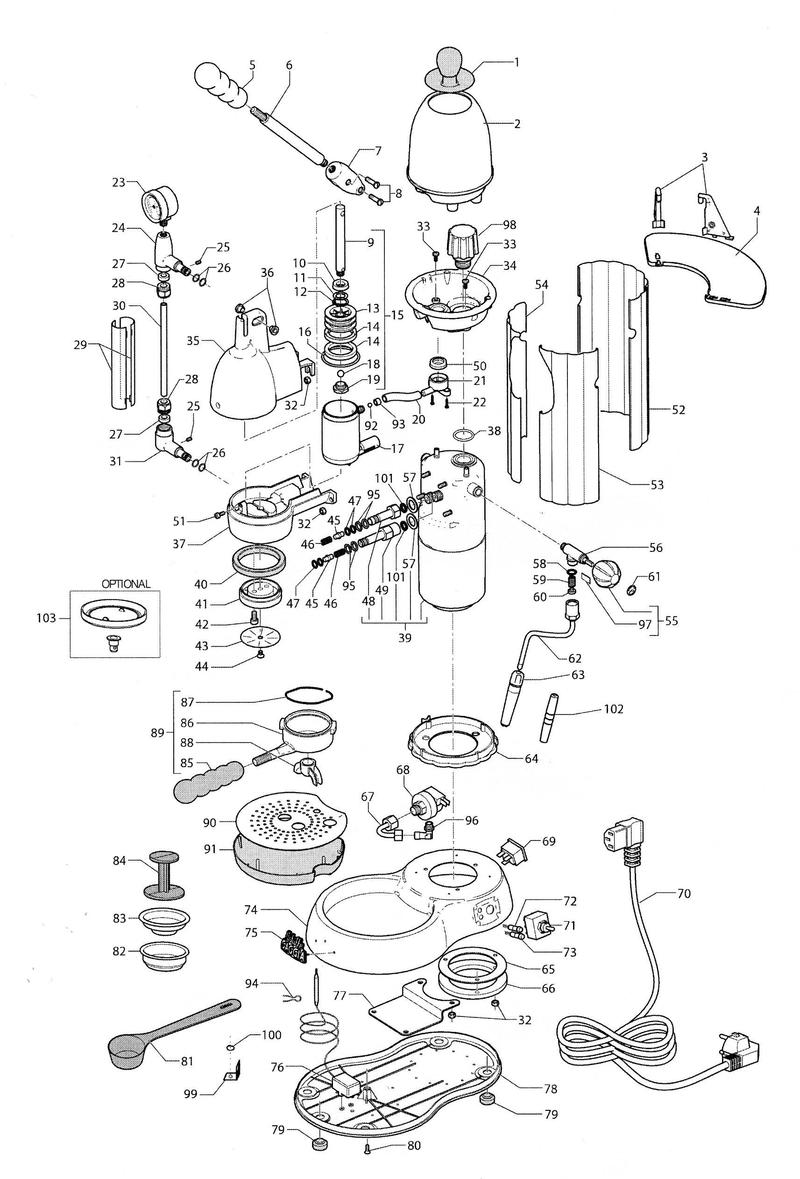 keurig parts diagram schematic