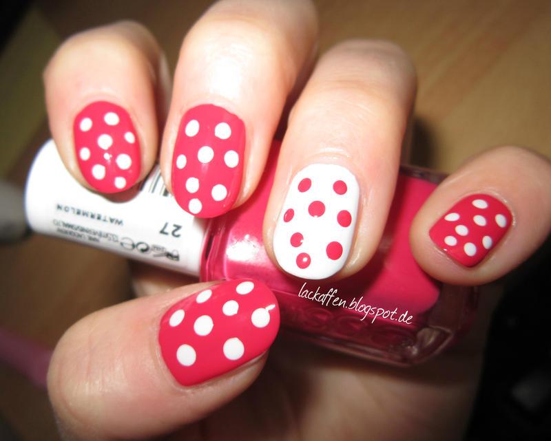 weiße polka dots