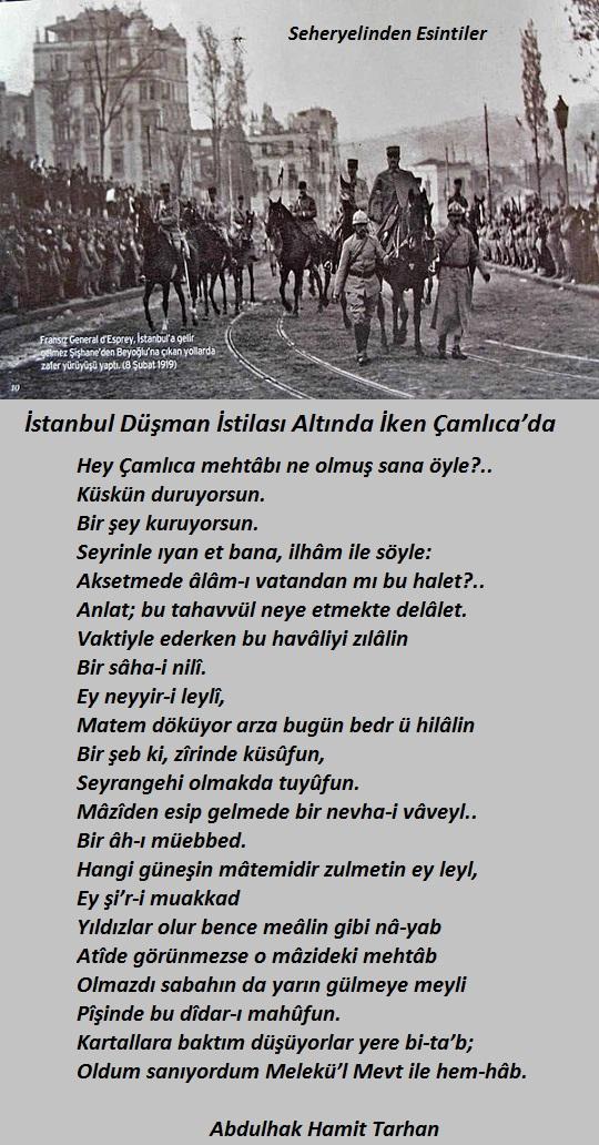 İstanbul Düşman İstilası Altında İken Çamlıca`da 14551840gk