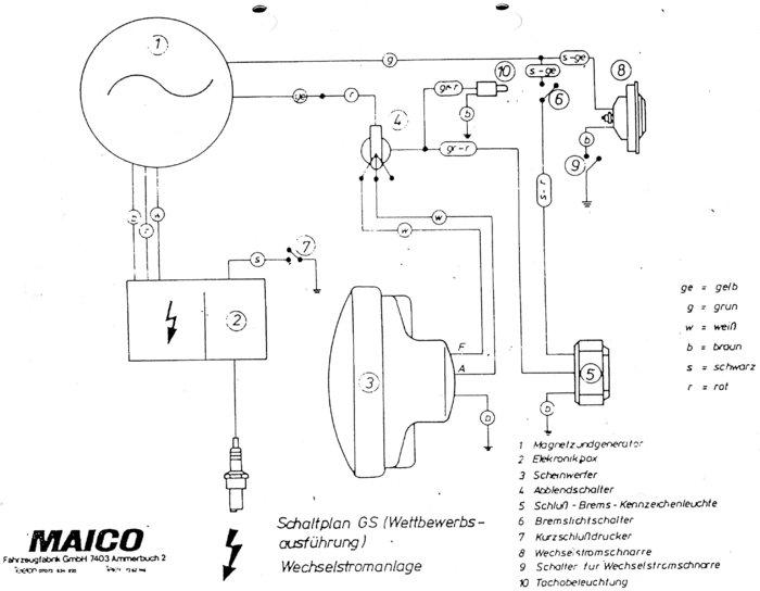 Maico GS 250/T, suche Schaltplan - Technik für klassische Motorräder ...