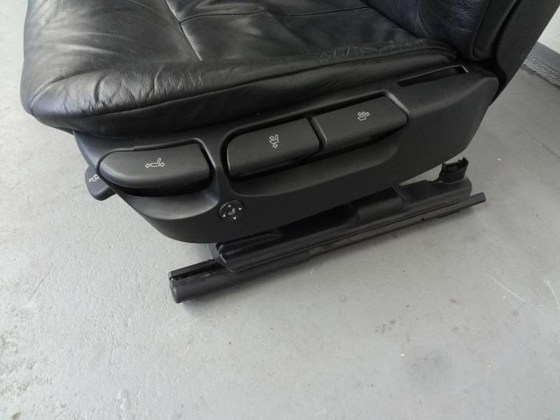 bmw e39 5er sitz faher fahrersitz leder schwarz mit