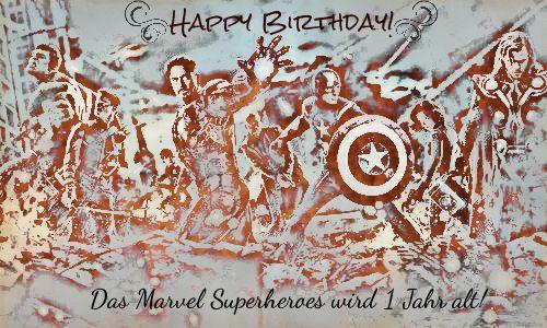 Geburtstasgrüße Marvel Superheroes 15217838fw