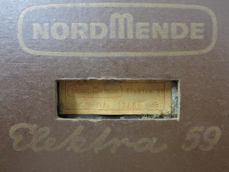 Dampfradioforum • Thema anzeigen Nordmende Elektra 59