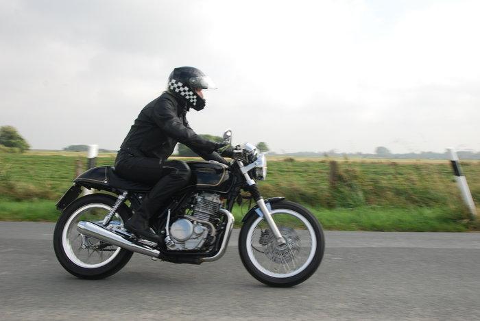 Zum Motorradtreffen des MC Scorpions a...im waren Biker von weither ...