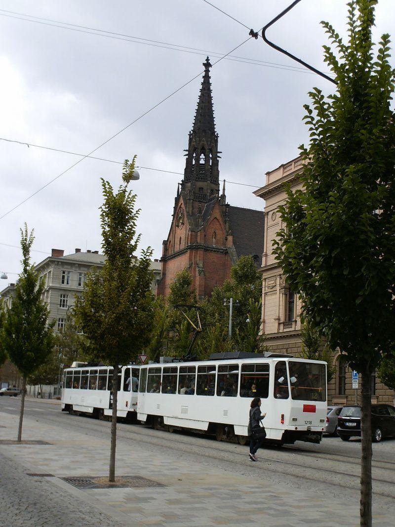 Straßenbahnen in Brünns Altstadt 16019538mf