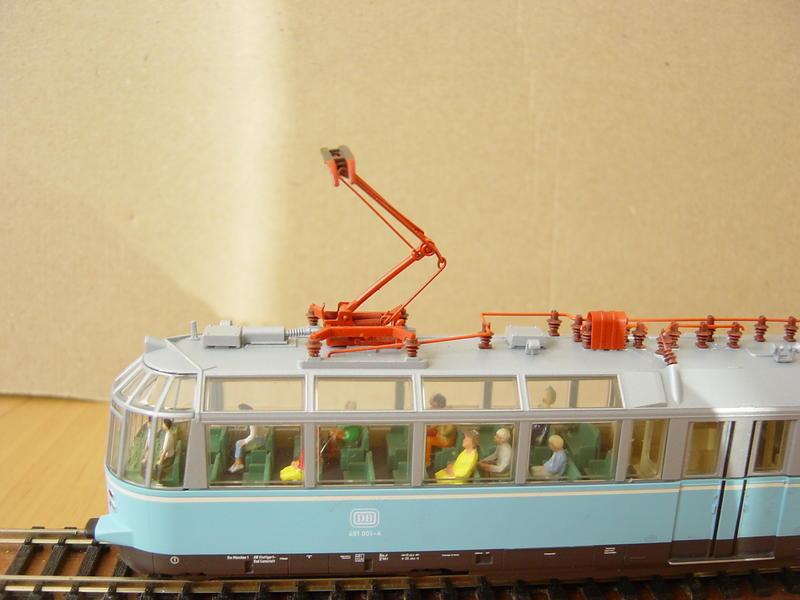 """Triebwagen BR 491 DB """"Gläserner Zug"""" (MÄRKLIN Art.Nr.37580) 16279121zn"""