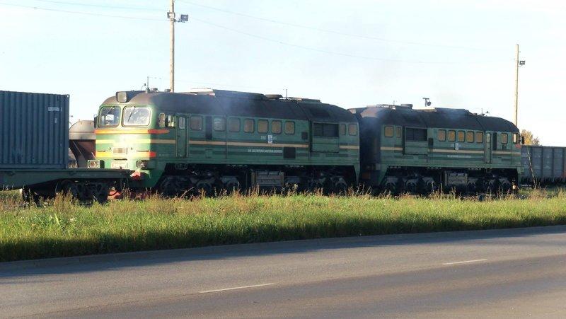 Eisenbahnbilder aus Lettland / Riga (gemischte Spurweiten) 16365128vm
