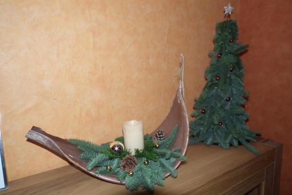 Selbstgemachte Weihnachtsgestecke Weihnachtdeko Ideen Sandras Und