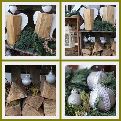 weihnachtsdeko aussen natur frohe weihnachten in europa. Black Bedroom Furniture Sets. Home Design Ideas