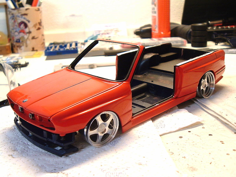 bmw e30 m3 umbau zum cabrio modelcarforum. Black Bedroom Furniture Sets. Home Design Ideas