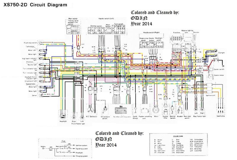 Schaltplan XS 750 D oder 2D - Eintöpfe und Parallel-Twins ... on