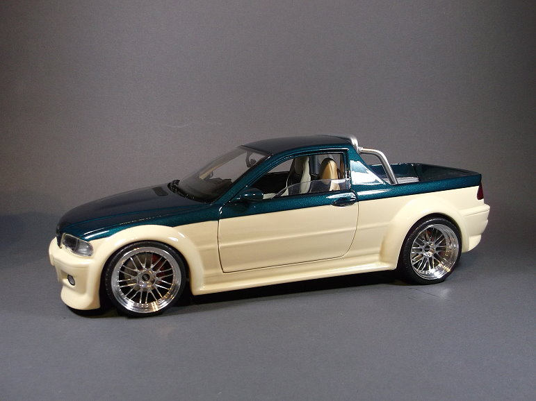 1 18 bmw m3 e46 wird zum pickup modelcarforum. Black Bedroom Furniture Sets. Home Design Ideas