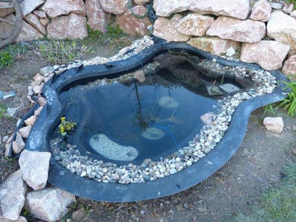 Teich mit weisen steinen for Steine im teich