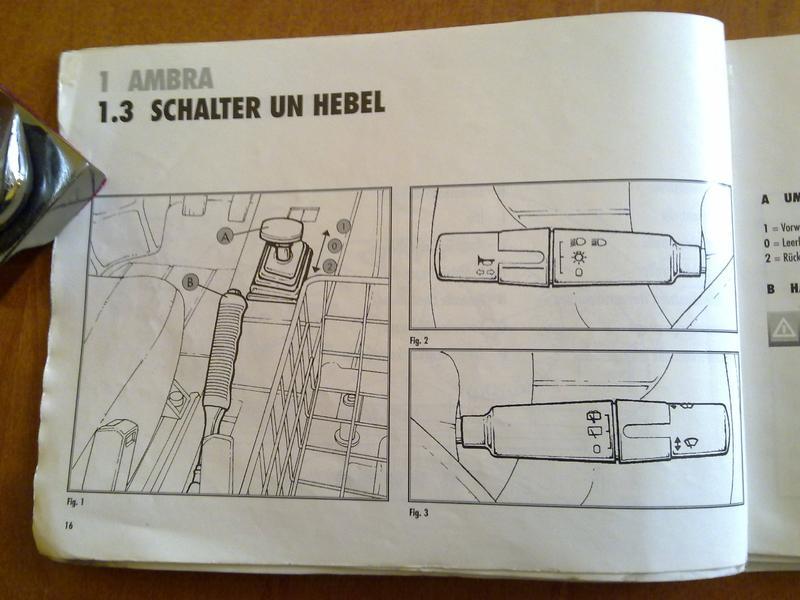 Leichtkraftfahrzeuge • Thema anzeigen - Handbuch Ambra