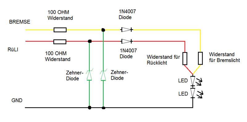 3-1 LED Blinker-Rücklicht Eigenbau - Elektrik und Co. - Chopperforum