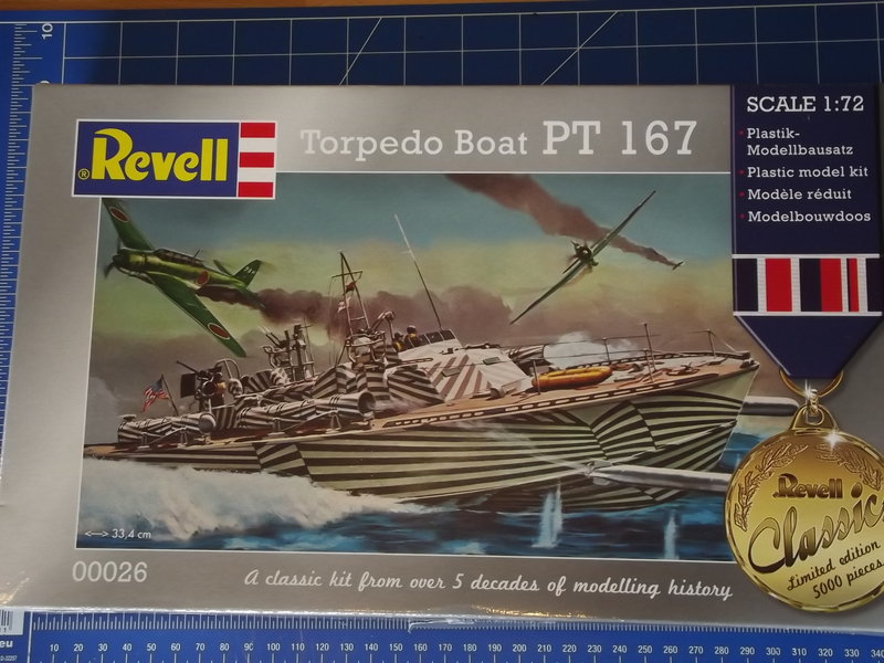 REVELL 00026 Torpedo Boat PT 167 (aka 109) im Maßstab 1:72 18332470nx
