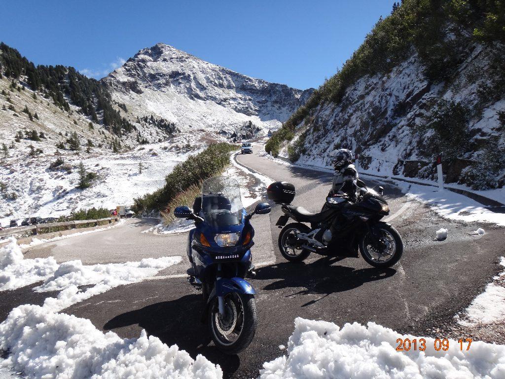der Schnee am Passo Manghen kam 3 Tage zu frueh