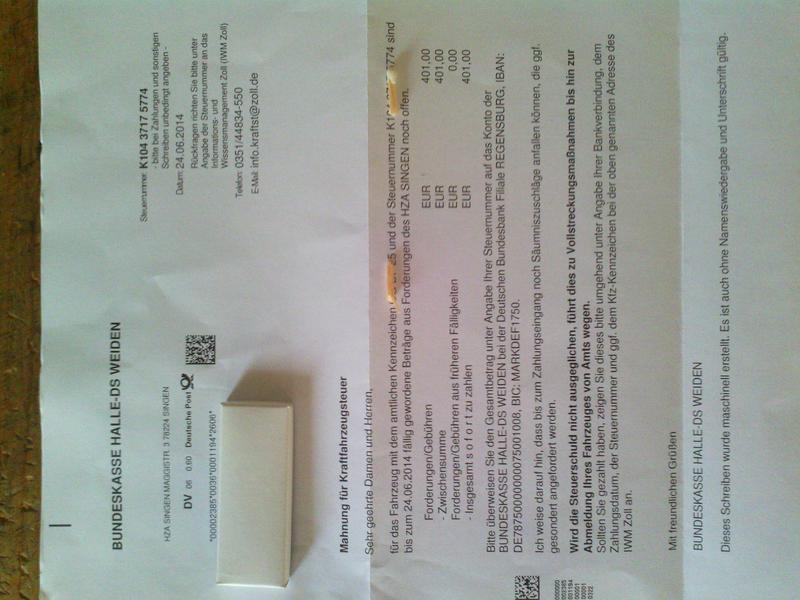 Kfz Steuer Fake