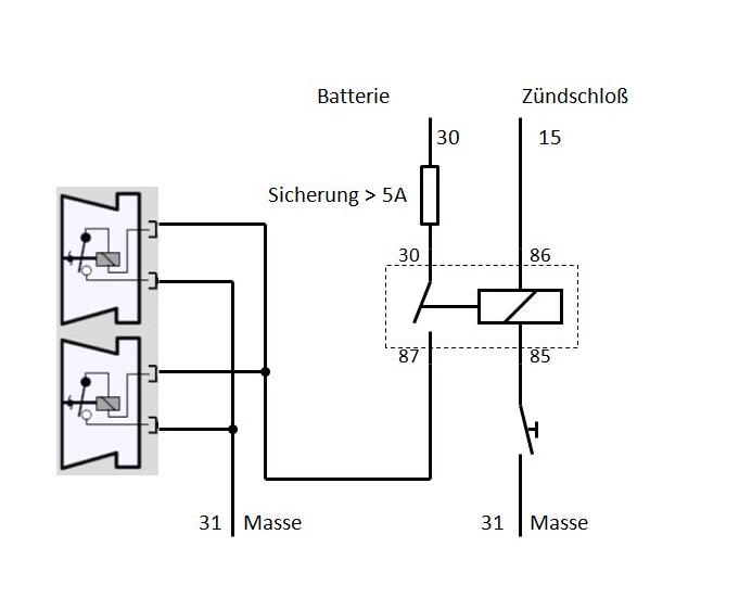 Neue Hupe , stärkere Sicherung? [Archiv] - 2-ventiler.de