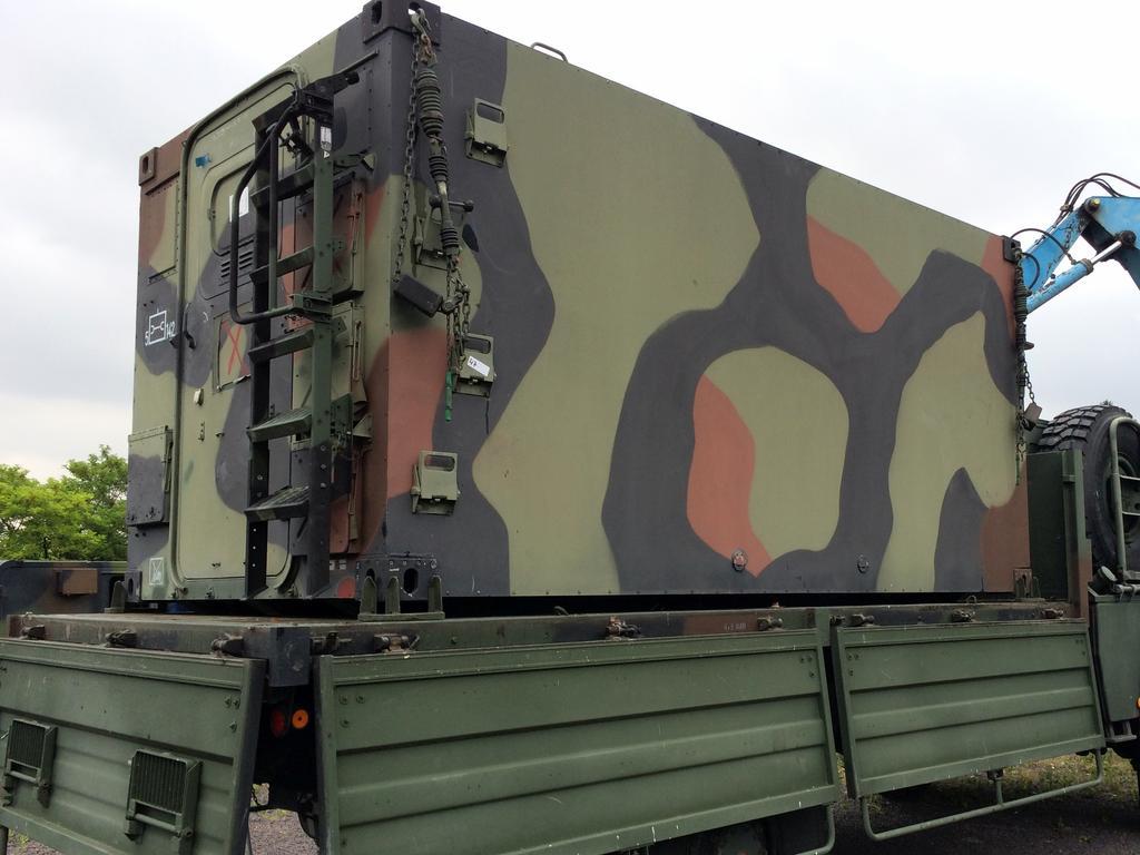 Bundeswehr Kabine Ii Shelter Alukoffer Nato Leer Ca