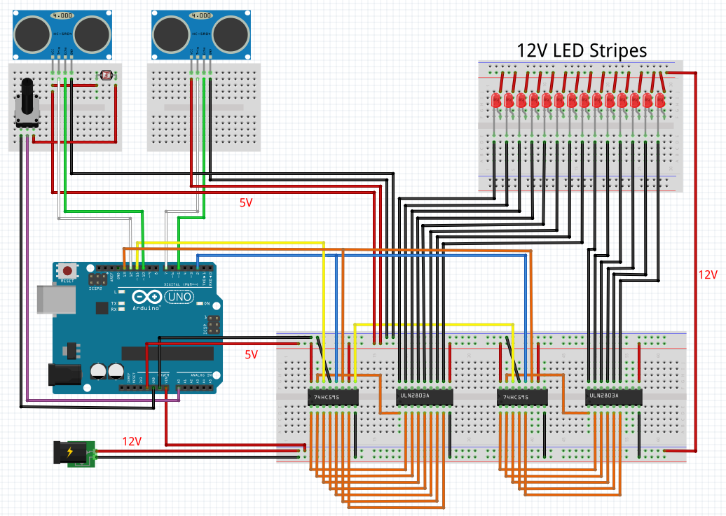 Problem with code for stair lights project    UNO, 74HC595 & ULN2803A