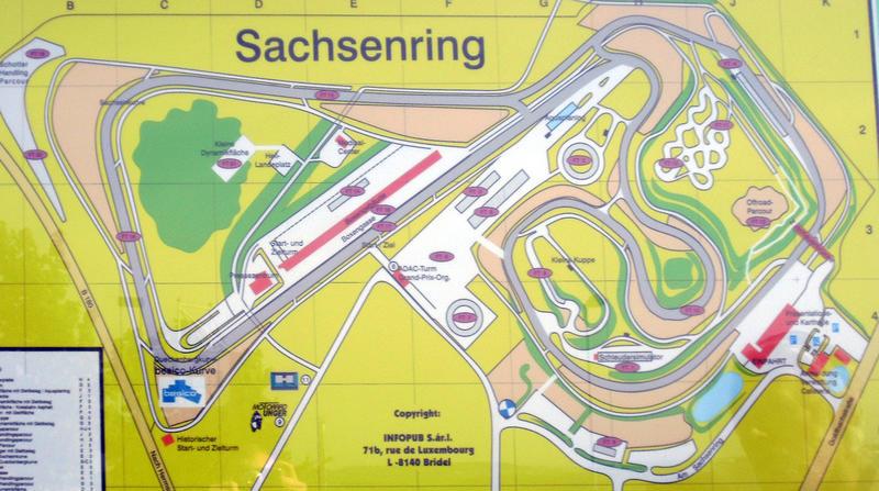 Sachsenring Karten