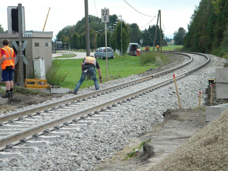 Mattigtalbahn: Bauarbeiten September 2014  19573363dz