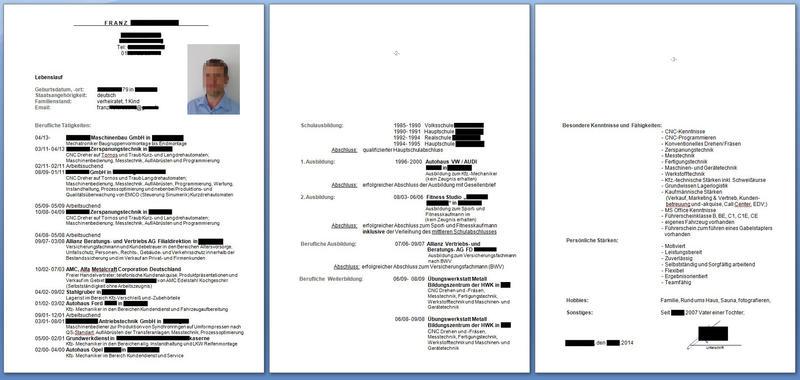 Beispiel Lebenslauf Mechatroniker Cnc Dreher Zur Bewertung Bewerbungsforum