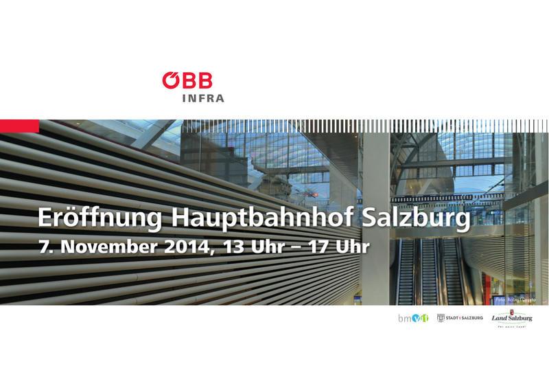 Salzburg Hauptbahnhof - Wiedereröffnung am 07.11.2014 nach Generalsanierung  20051124yz