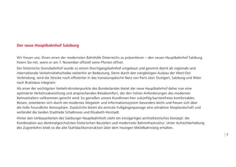 Salzburg Hauptbahnhof - Wiedereröffnung am 07.11.2014 nach Generalsanierung  20051134ie
