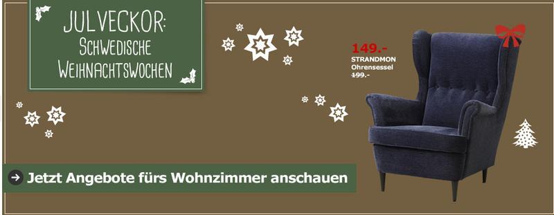 Ohrensessel ikea blau  LOKAL - Köln] IKEA STRANDMON Ohrensessel in blau - 149€ statt 199 ...