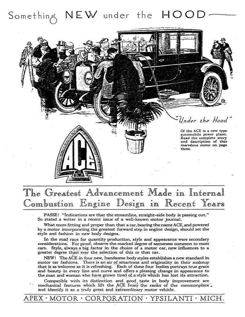 Ace (Apex Motor Corporation, 1920-1922) - us-car-forum.net