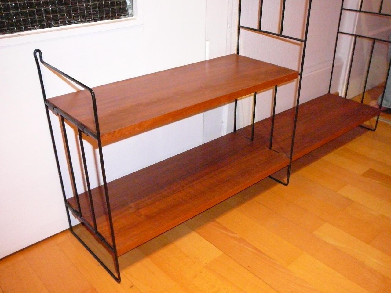 nissen string regal 50er 60er jahre teak in aarau kaufen bei. Black Bedroom Furniture Sets. Home Design Ideas