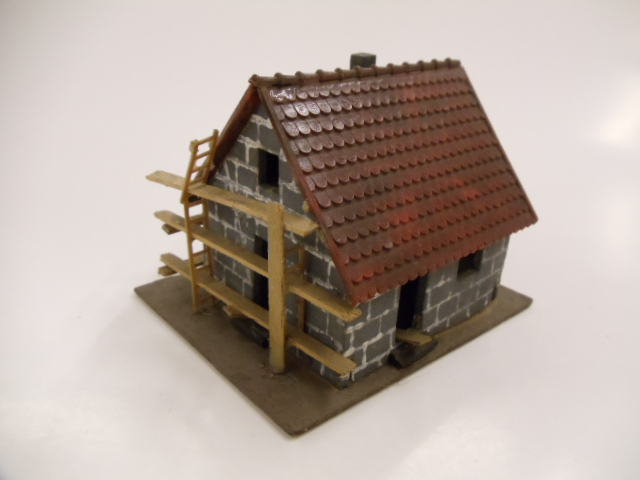 Haus hielt Objekte in Arsch geschoben
