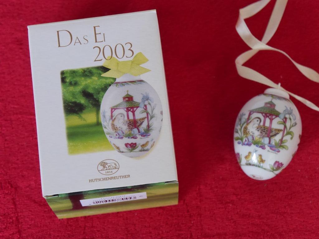manufaktur hutschenreuther porzellan das ei 2003 osterei wie neu ovp ebay. Black Bedroom Furniture Sets. Home Design Ideas
