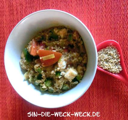 Schnelles Bulgurgemüse mit Schafskäse – vegetarisch
