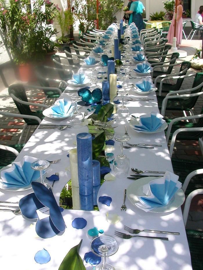 Tischdeko In Blau Hochzeitsdeko Even Tipp Picture Pictures to pin on