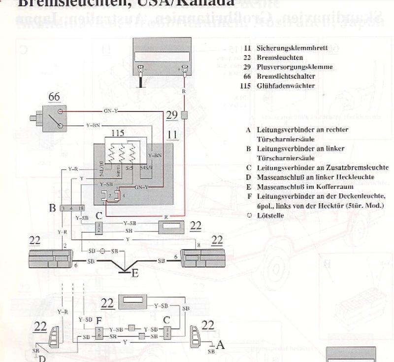 Charmant Verkabelung Bremslichter Ideen - Der Schaltplan ...